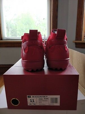 buy popular 8f187 e1ffc Adidas David Beckham DB Accelerator TF Mens Red Size 11 Turf Soccer Shoes