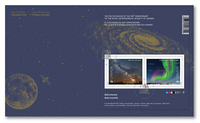 2018 Canada FDC Royal Astronomical Society 150 Anniversary SpaceSc# 3102 Science