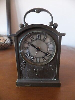 Carriage/ Mantel Brass Alarm Clock Case designed by Holy Freres
