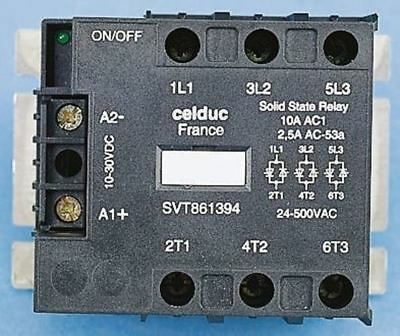 Celduc 50 A Solid State Relay, Zero Crossing, Chassis Mount Thyristor, 520 V ac