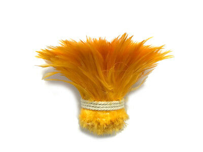 1 Yard - Golden Yellow Strung Rooster Neck Hackle Wholesale feathers Supplier
