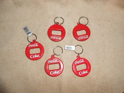 Coca-Cola--Lot of 5--Keychains Bottle Openers