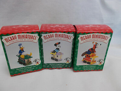 Hallmark Vintage Merry Miniature Mickey Express-Lot of 3-Goofy Donald Minnie