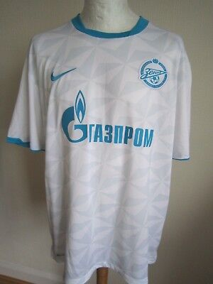 MEN'S ZENIT ST PETERSBURG 2011-2012 AWAY SHIRT  XXL  Nike 11/12 trikot jersey