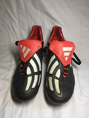 best sneakers 7f3b0 32037 Adidas Predator Mania X-TRX Soft Ground 2002 Cleats Red Black Colorway Size  10