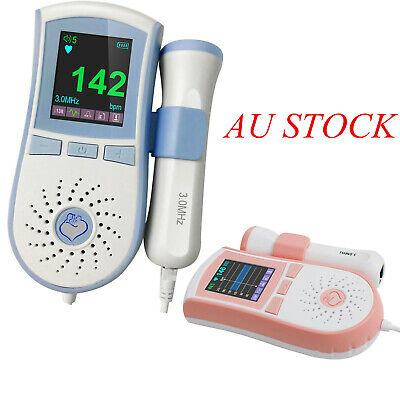Color LCD Pocket Baby Fetal Doppler Angel Sound Heart Rate Monitor TGA Aprroved