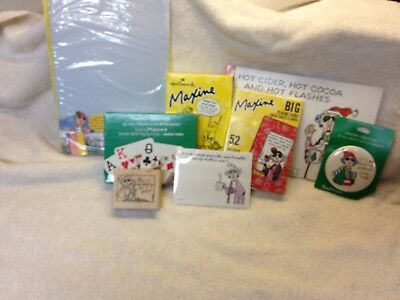 "Lot of Eight (8) Items ""Maxine"" series by Hallmark. Some new some used."