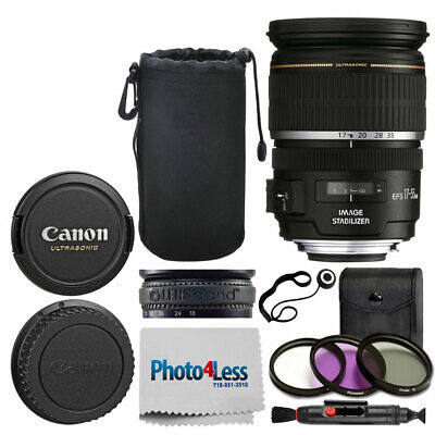 """Canon EF-S 17-55mm f/2.8 IS USM Lens + 8"""" Lens Pouch + 77mm UV Filter + More Acc"""