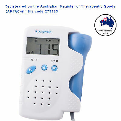 Backlight LCD Baby Fetal Doppler Heart beat 3Mhz Sound Pulse Monitor TGA/FDA/CE