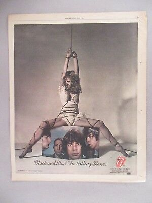 "Rolling Stones ""Black and Blue"" Album Release PRINT AD - 1976"