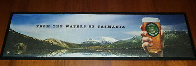 "Boag's Draught Bar Matt  87 x 23 cm Rubber Backing ""From The Waters of Tasmania"""