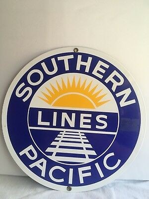 Southern Pacific Lines Porcelain Enameled Advertising Sign Ande Rooney