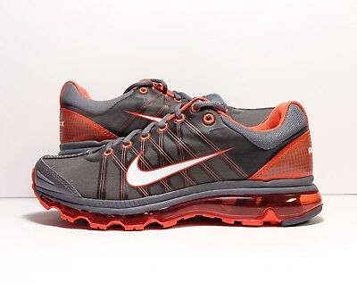 NIKE AIR MAX 2009 Shoes Men s Size 9.5 Dark Grey Vivid Orange 486978 ... 9cd7765ac