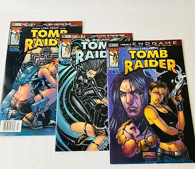 Tomb Raider-Lot of 3 Comics: #20, 22, 24 Image 2002. Acceptable/Good Condition