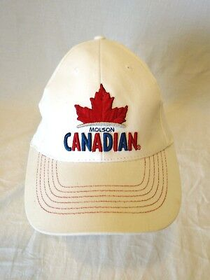 fc31994c5b7 Molson Canadian Beer White Fitted Men s Baseball Cap Hat Embroidered Logo