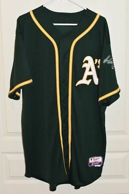 los angeles 5bc0c 792d1 MAJESTIC AUTHENTIC OAKLAND A's Athletics Green Jersey - Cool Base - Size 52