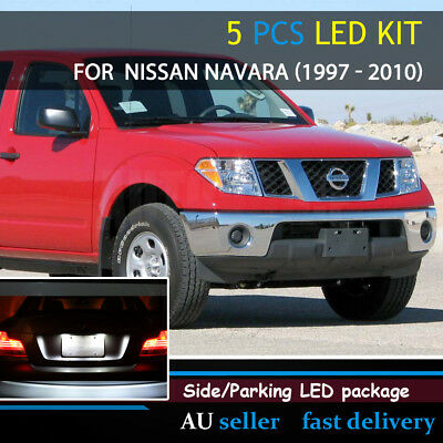 Replacement Auto Tail Side Park No. Plate LED Kit For NISSAN NAVARA 1997 - 2010