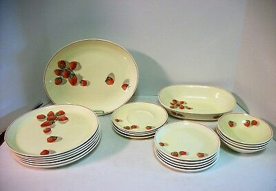 Cavitt Shaw Shortcake China W S George 21 pcs  Strawberry China Vintage