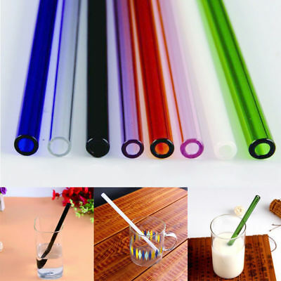 Wholesale Reusable Straight Pyrex Glass Drinking Straw f/ Wedding Birthday Party