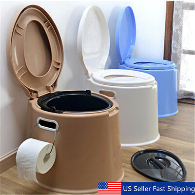 13Gallon Portable Large Toilet Flush Travel Camping Outdoor/Indoor Potty Commode