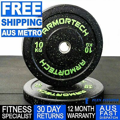 Weightlifting Crumb Bumper Plate Single 5-25kg Strength Exercise *Free Shipping*