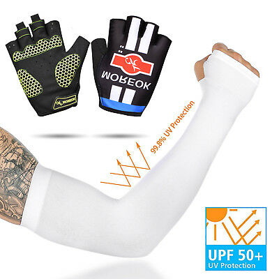 Unisex Cooling Arm Sleeves Cover UV Sun Protection Outdoor Sports, 1/2/3/5/10pcs