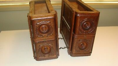Set of 4 Antique Singer Treadle Sewing Machine Cabinet Oak Drawers w/Frames