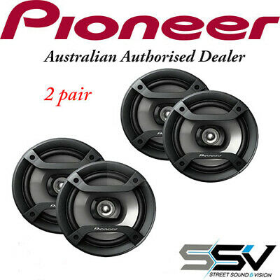 2 X Pairs of Pioneer TS-F1634R 200 Watt 6.5 Inch  Speakers TSF1634R