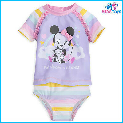 Disney Minnie Mouse Two-Piece Swimsuit for Baby sizes 6-24 months