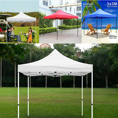 Heavy Duty Gazebo Garden Patio Easy Pop Up Party Tent Marquee Outdoor 3x3M UK
