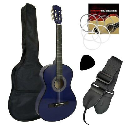 Tiger Beginner 3/4 Size Classical Guitar Pack - Blue Guitar