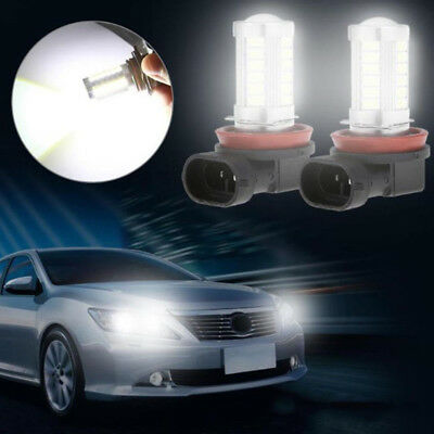 H8/H11/9005 HB3 33SMD LED Auto Car Driving Fog Light Headlight Bulbs 6000K New