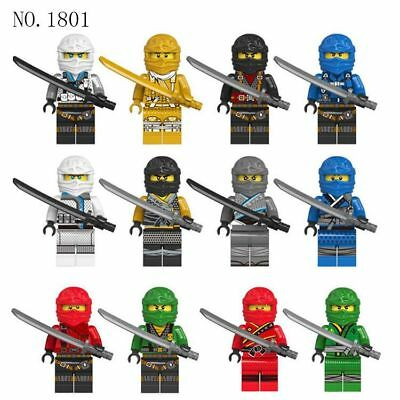 2018 New 12 Sets Ninjago Jay Cole Kai Pythor Ninja Mini figures Building Toys