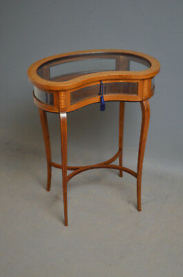 Edwardian Kidney Shaped Mahogany Bijouterie Table