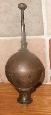 Antique Large Longcase / Grandfather  Clock  Ball Brass Finial
