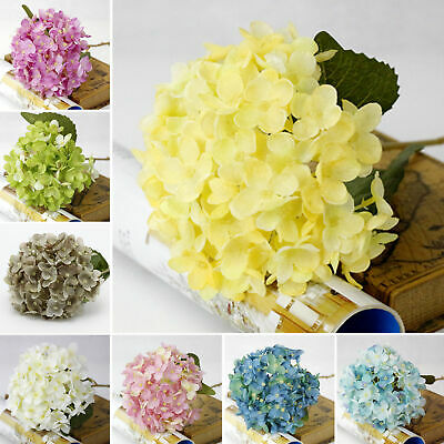 Faux Artificial Silk Floral Flower Bouquet Hydrangea Party Decor Craft