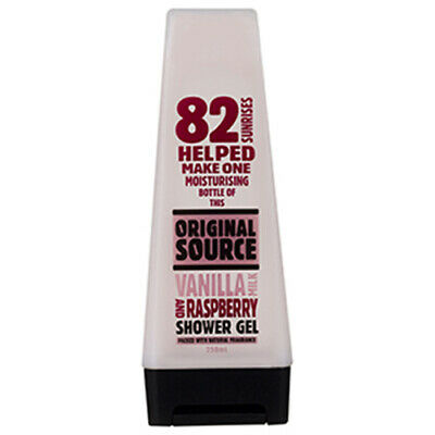 NEW Original Source Shower Gel Vanilla Milk & Raspberry 250ml