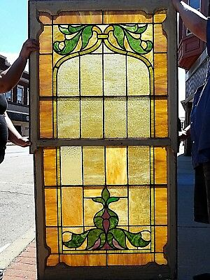 Victorian Antique Rare Beautiful Church Stain glass Gothic Windows #2
