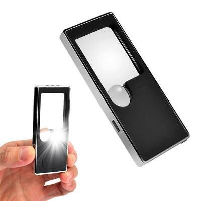 2x Pocket 3X/10X Magnifying Glass Magnifier Loupe with LED Light Reading/Jewelry