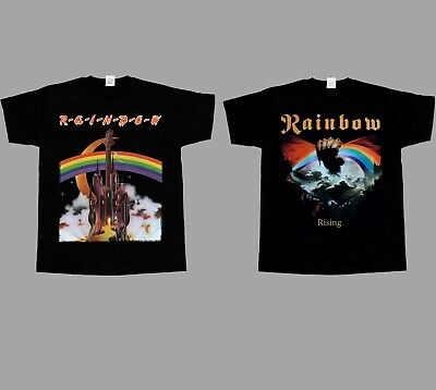 Rainbow Rising'76 Blackmore  New Short Long Sleeve Black T-Shirt