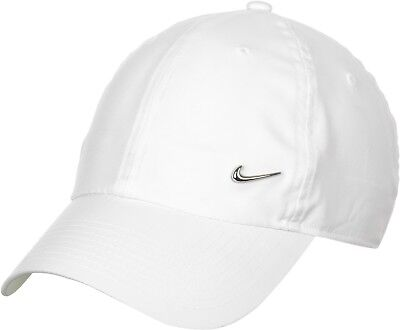 Nike H86 Metal Swoosh Baseball Cap White Training Hat Mens Golf Womens  943092 b6681b1fcc74