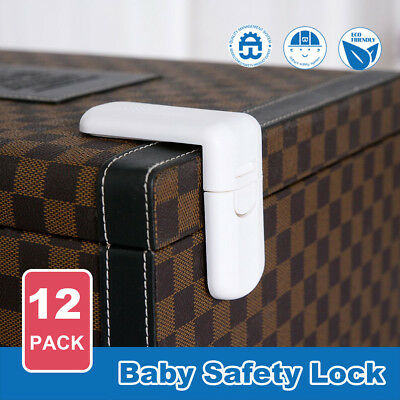 12X Baby Safety Lock Child Kids Adhesive Drawer Door Cabinet Cupboard Lock