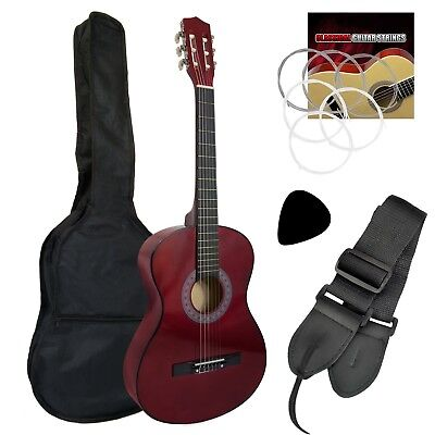 1/4 Size Classical Guitar Pack Red Nylon Strings