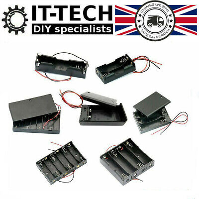 Battery Holder Box Storage Case Pack 1x 2x 3x 4x 18650 3.7V AA 1.5V PP3 9V Cells