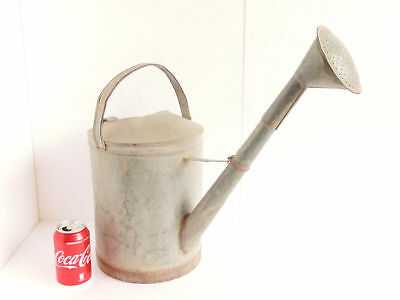 "1950's Old Vintage Large Galvanized 18.90"" Tall Watering Can> Home Garden Decor"