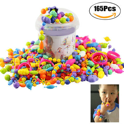 165PCS Snap Beads Creative DIY Jewelry Making Beads Toy Pop Beads