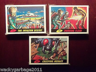 Topps Heritage MARS ATTACKS Complete 55 Card Base Set, Wrapper, & Merch Brochure