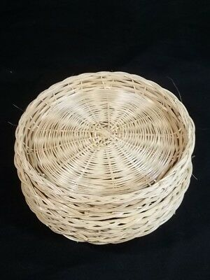 Wicker Bamboo Paper Plate Holders Lot of 8 & LOT 13 VINTAGE Wicker Rattan Bamboo Paper Plate Holders Barbeque ...