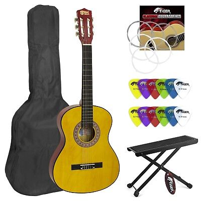 Classical Guitar for Pupils Size 1 1/4 Footstools and Picks