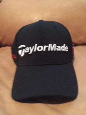 2a7e5f1714d85 TaylorMade R15 Aero Burner Black Fitted M L Hat Cap NWOT New Era Men s Golf
